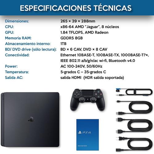 playstation 4 slim atencion modelo nuevo 1 tb + call of duty