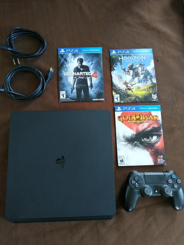 24a6568f968 Playstation 4 Slim De 500gb Con Juegos - $ 5,500.00 en Mercado Libre