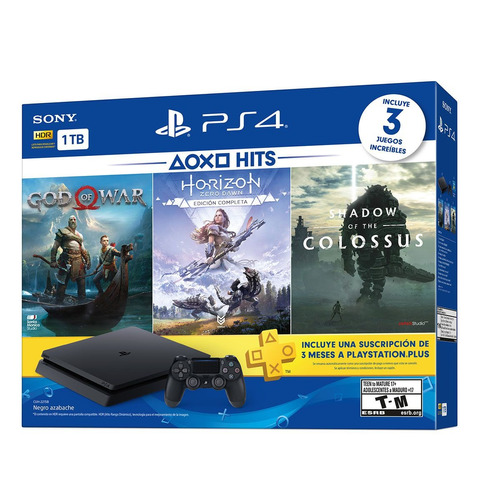 playstation 4 sony slim 1tb + dualshock + hits bundle 2019