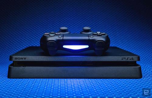 playstation 4 super slim 1tb+joystick original+jogo fifa 18