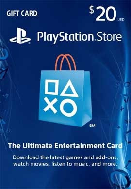 playstation network $20.00 card (us)