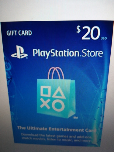 playstation network card 20usd