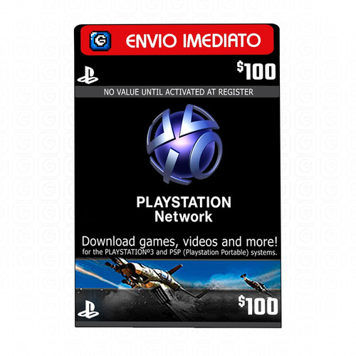 playstation network card - cartão psn $ 100 dólares - 2x 50$
