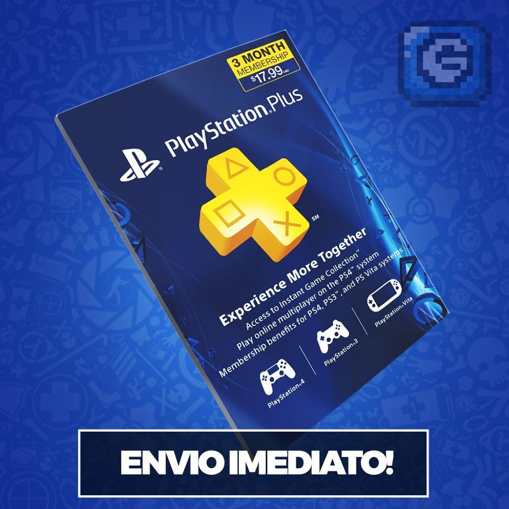 Playstation network store cart o psn plus 3 meses us ps3 ps4 r 99 90 em mercado livre - Psn plus 3 meses ...
