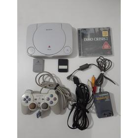 Playstation One Japonês Travado Com Jogo Lacrado.