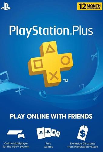 playstation plus 1 año cuenta americana plus 12 meses codigo
