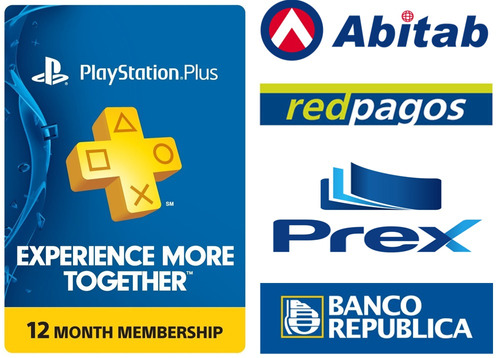 playstation plus 1 año psn store usa ps3 / ps4