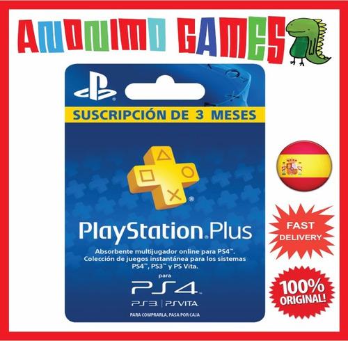 Playstation plus 3 meses espa a c digo original 749 00 en mercado libre - Psn plus 3 meses ...