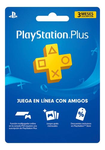 playstation plus 3 meses psn + juegos + now