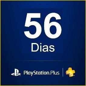 playstation plus psn 56 dias - ps4, ps3 - econômico