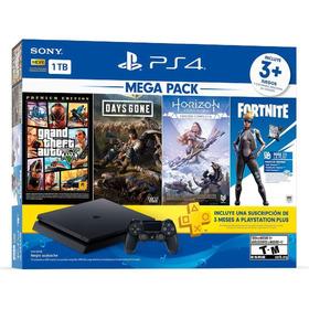 Playstation Ps4 + 4 Juegos + 2 Controles + 1tb- Promo 2021