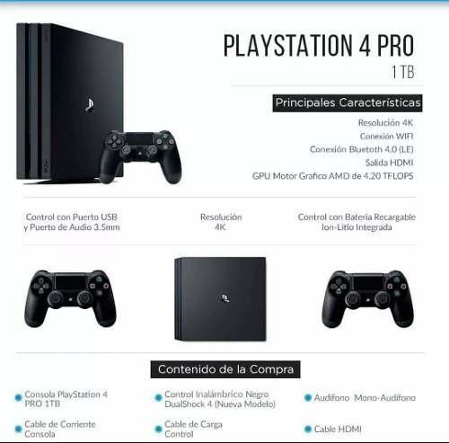 playstation ps4 pro 7115b  con fifa 18 + joystick  extra