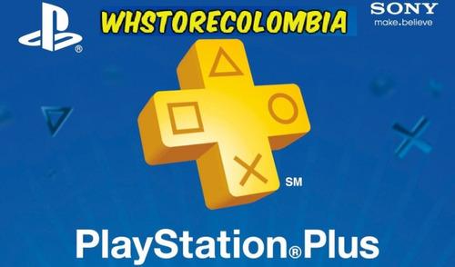 playstation psn plus 3 meses 98 días ps4 online +juegos plus