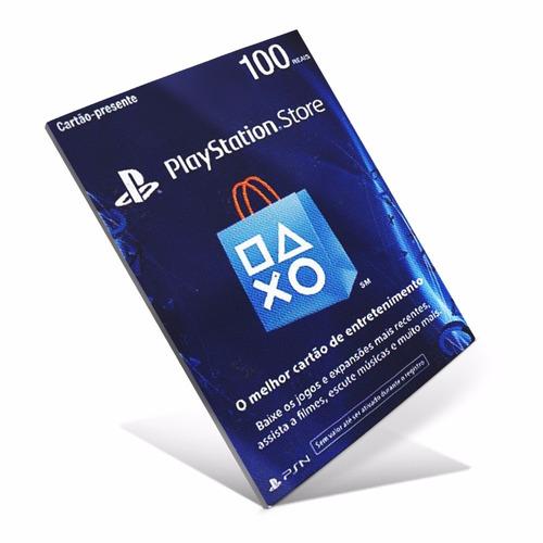 playstation r$100 reais cartão pré-pago psn brasil plus