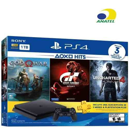 playstation sony 4 ps4 play 4 slim 1tb hits bundle 2115b