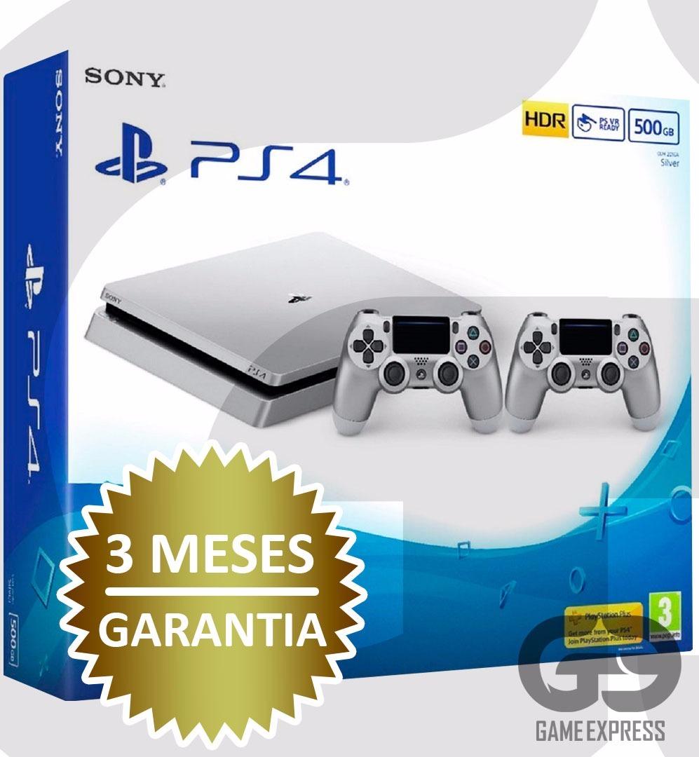Playstation4 Slim Silver 500gb 2 Contr Jogo Brindes R 1669 Sony Ps4 2006 500 Gb Game Fifa 17 Carregando Zoom