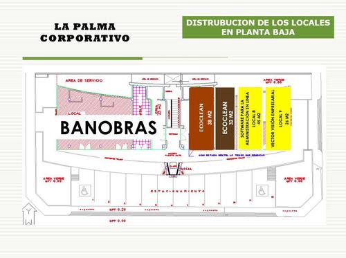 plaza la palma, local de 71m2 en planta alta, cerca liverpool