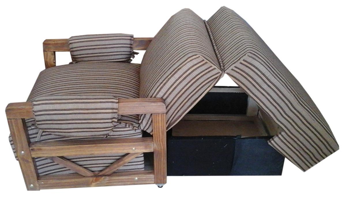 Sofa Cama 1 Plaza Con Posabrazos De Madera Mi Casa 3