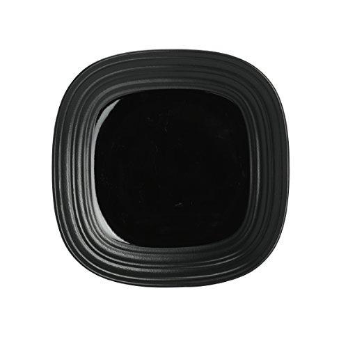 plaza mikasa remolino negro 4-piece cubierto, servicio de 1