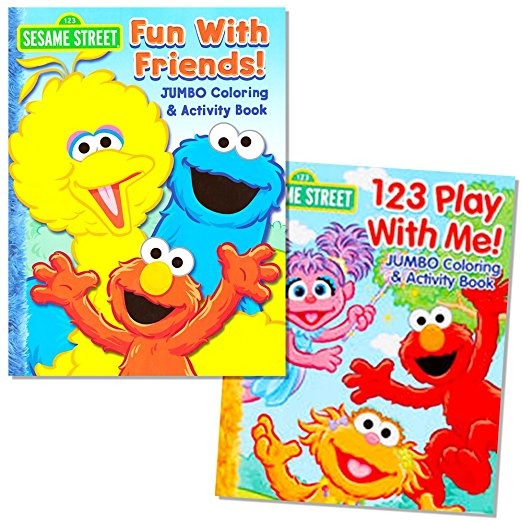 Plaza Sésamo Coloring Book Set (2 Libros - Elmo Y Cookie Mon ...