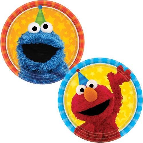 plaza sesamo elmo come galletas fiesta vasos platos y globos