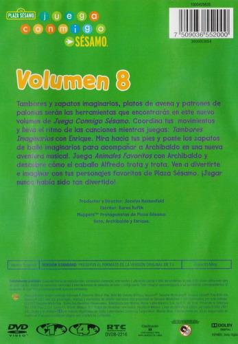 plaza sesamo juega conmigo volumen 8 ocho dvd