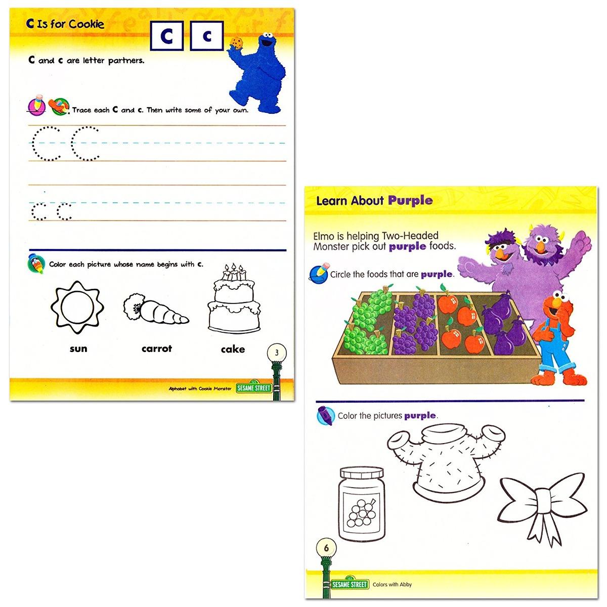 Plaza Sésamo Libros Preescolar (juego De 4 Libros - Alfabeto ...