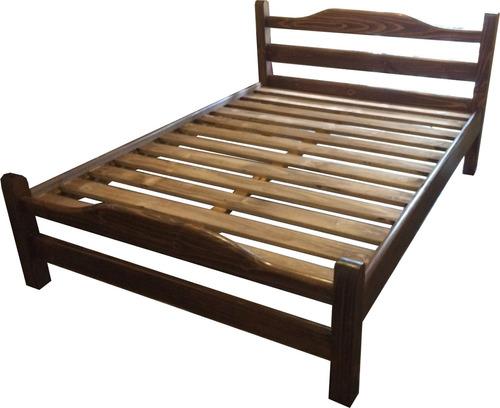Cama de 2 plazas madera maciza dormitorio armado gratis for Sillon cama 2 plazas precios