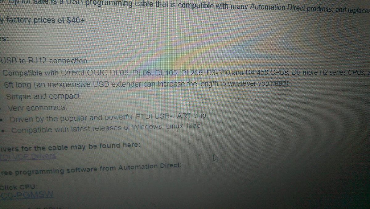 Plc Direct Logic 205 Koyo Con Cable De Programacion