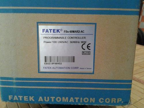 plc fatek fbs-60mar2-ac 36 entradas i/o precio negociable