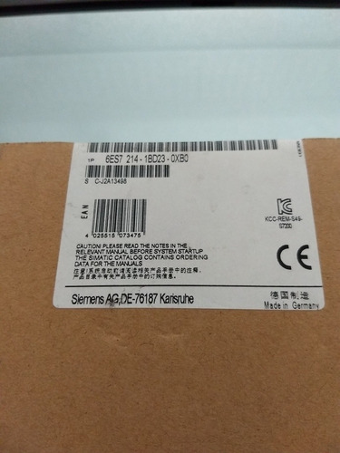 plc siemens s7-200 6es7214-1bd23-0xb0