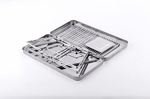 plegable de acero de hardware portátil césar carbón de leña