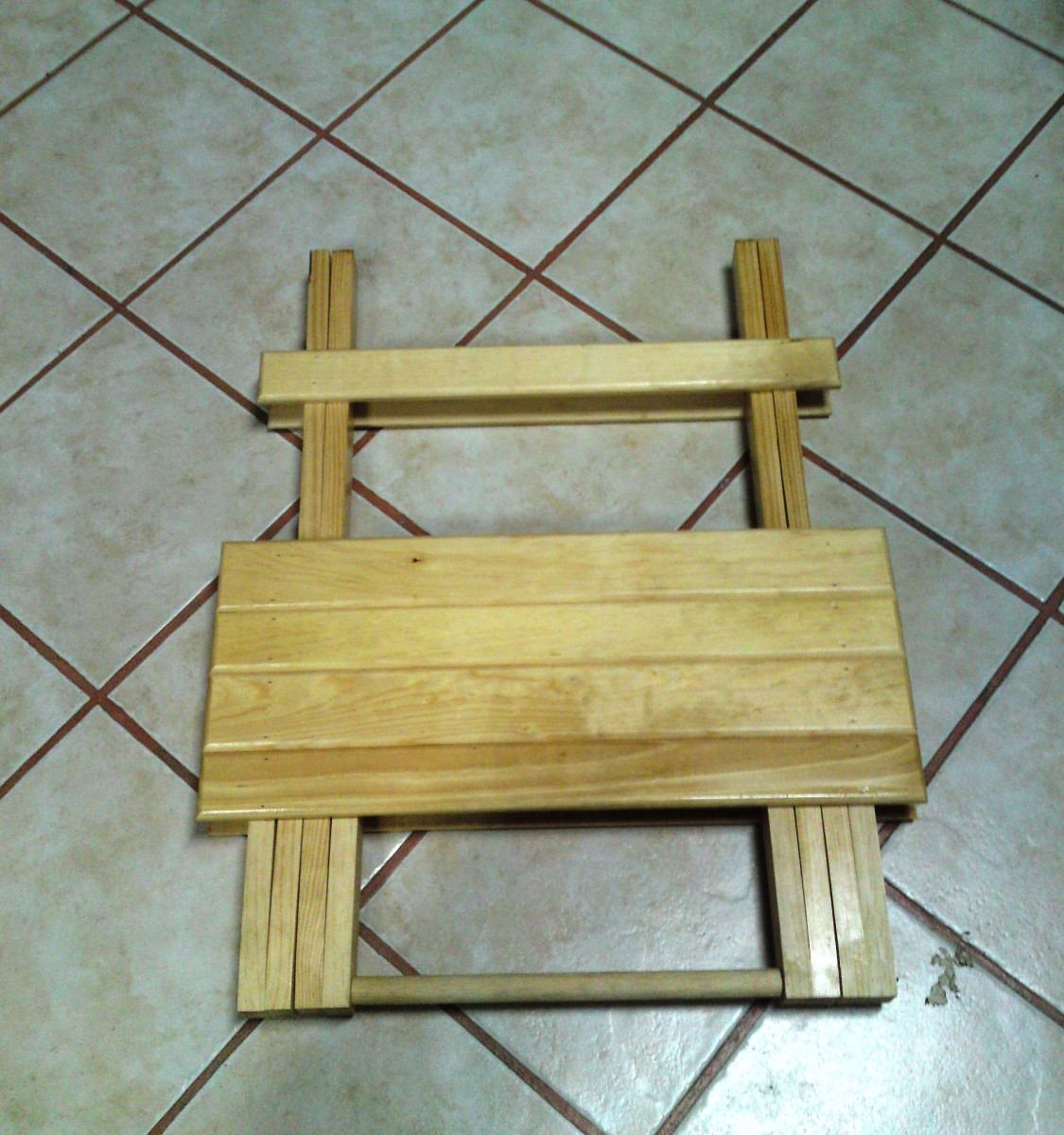 Mesa de madera plegable 68c portatil jardin o terraza - Mesa plegable madera ...