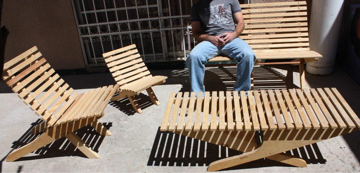 Silla para ni o mueble plegable madera jardin o interiores for Muebles jardin plegables