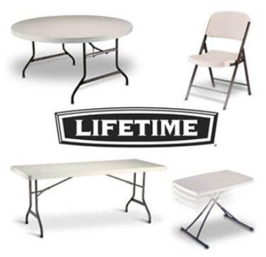 Mesa plegable rectangular de plastico lifetime 183cm x for Mesa plegable lifetime