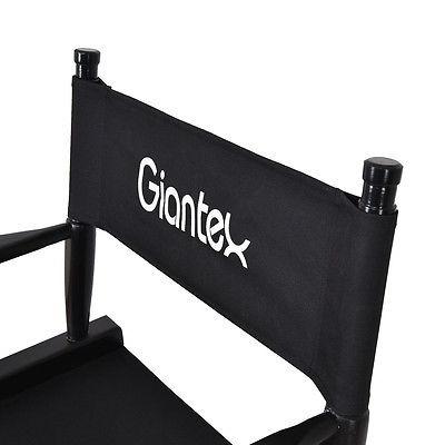 plegable silla de madera director de maquillaje artista haya