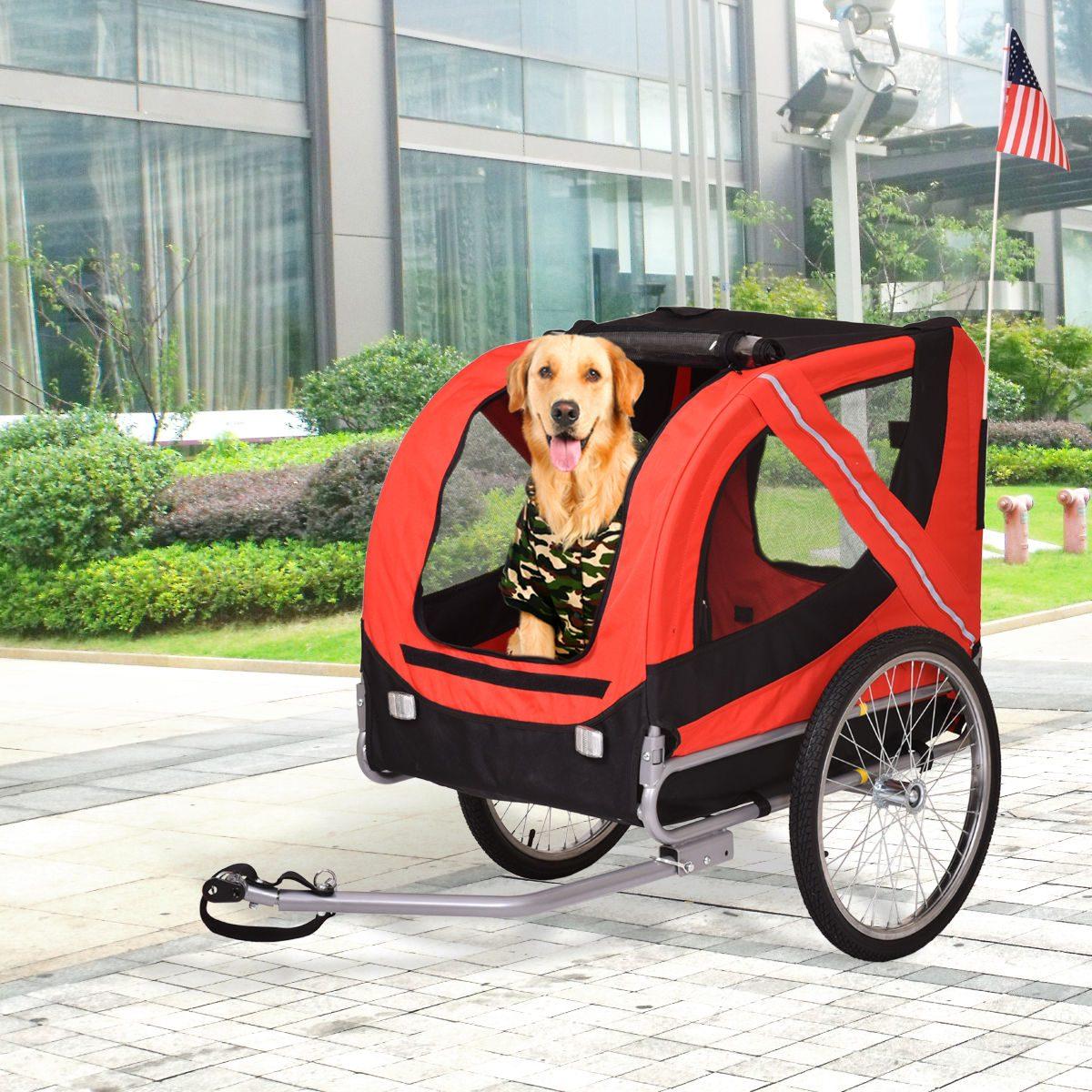 Plegable Transportín Bicicleta Remolque Perro Gato Bicicleta ...