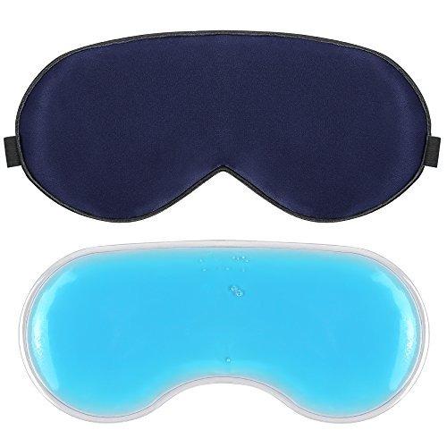 plemo upgraded sleep mask, 100% pure silk eye cover with reu