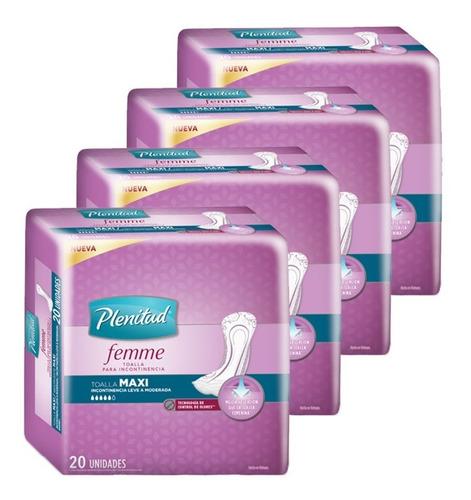 plenitud toalla maxi femme x 20 unidades pack x 4