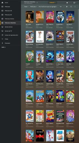 plex, películas ,series, infantiles,anime