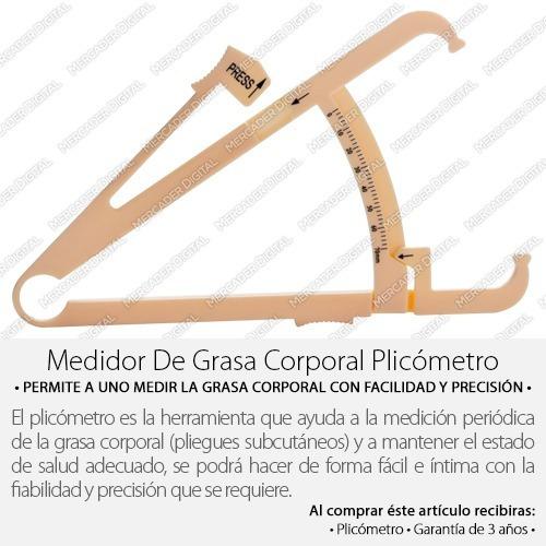 plicómetro medidor de grasa corporal / regulador manual
