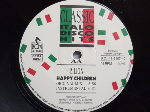 p.lion - happy children - 4 tracks- original version