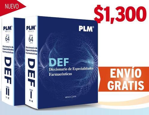 plm 2018 diccionario de especialidades farmacéuticas 2 vols