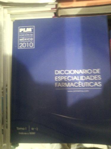 plm diccionario de edpecialidades farmacéuticas. edición 56.