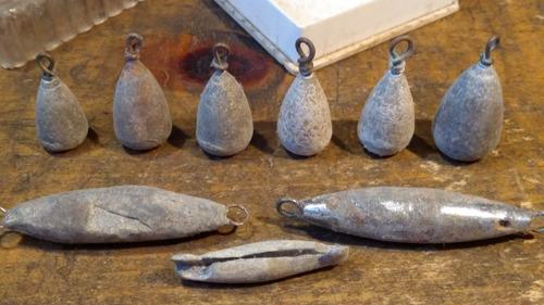 plomadas plomos para pesca antiguos