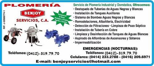 plomeria emergencias 24 horas benjoy servicios plomeros