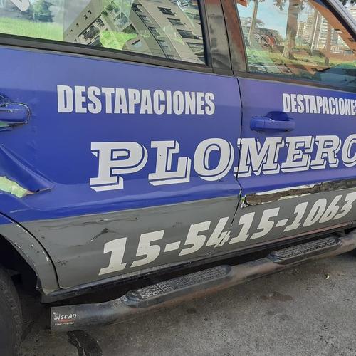 plomero destapaciones c/ maquina urg 24 hs service calef one