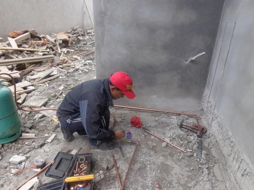 plomero en cobre instalacion y reparacion en todo lugar
