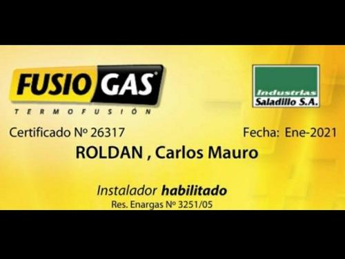 plomero. gas gasista