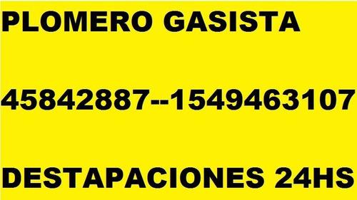 plomero gasista destapaciones 45842887 tino 1556576019 -24hs